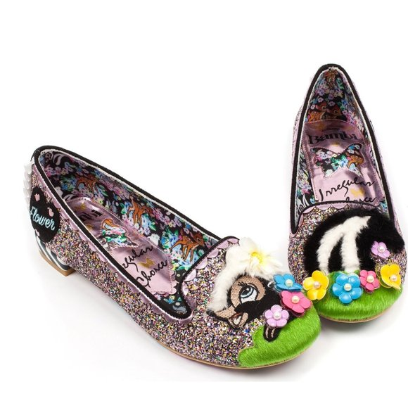 Irregular Choice /'Coochy Coo/' A Floral Slip On Flat Shoes